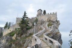 Fortaleza en San Marino Fotografía de archivo libre de regalías