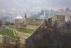 Fortaleza en Travnik Bosnia y Hercegovina foto de archivo