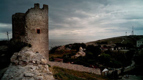 Fortaleza Genoese em Feodosia, Crimeia imagem de stock royalty free