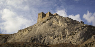 Fortaleza Genoese em Sudak, Crimeia Fotografia de Stock Royalty Free
