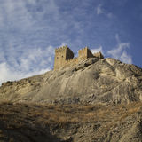 Fortaleza Genoese em Sudak, Crimeia Fotos de Stock Royalty Free