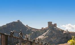 Fortaleza Genoese em Sudak Crimeia Imagem de Stock Royalty Free