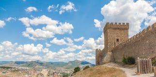 Fortaleza Genoese em Sudak Crimeia Imagens de Stock