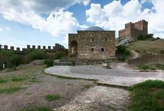 Fortaleza Genoese en Crimea Imagen de archivo libre de regalías