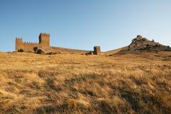 Fortaleza Genoese en Crimea Ucrania Imagen de archivo libre de regalías
