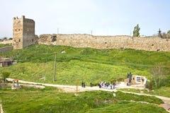 Fortaleza Genoese en Feodosia Imágenes de archivo libres de regalías