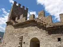 Fortaleza Genoese en Sudak (Ucrania) Fotos de archivo libres de regalías