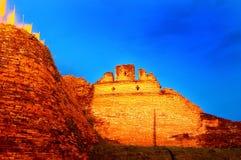 Fortaleza histórica e parede antiga em Chiang Mai, marco de Tailândia (700 anos velho) Fotografia de Stock