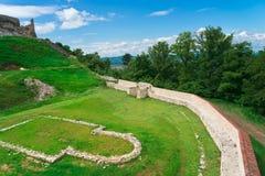 Fortaleza histórica y medieval de Rasnov Imagen de archivo libre de regalías