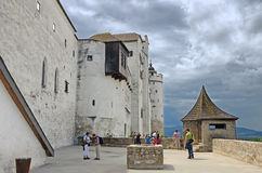Fortaleza Hohensalzburg, Salzburg, Áustria. Fotografia de Stock Royalty Free