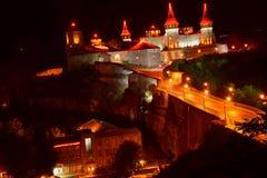 Fortaleza inexpugnável em Kamyanets Podolsky Fotografia de Stock