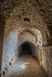 Fortaleza Jordania del castillo del cruzado del kerak de Al Karak Imagenes de archivo
