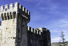 Fortaleza Kamerlengo en la ciudad histórica de Trogir, Croacia foto de archivo libre de regalías