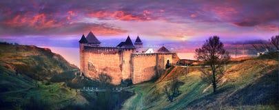 Fortaleza Khotyn foto de stock