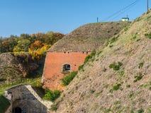 Fortaleza Klodzko em mais baixo Silesia, Polônia fotografia de stock