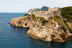 Fortaleza Lovrijenac en Dubrovnik Foto de archivo libre de regalías