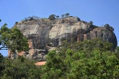 Fortaleza majestosa da rocha de Sigiriya, Sri Lanka Fotografia de Stock