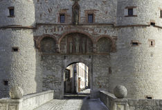 Fortaleza Marienberg de la entrada Imagen de archivo