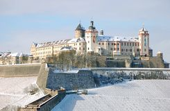 Fortaleza Marienberg de Wurzburg Imagen de archivo