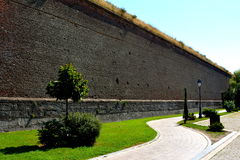 Fortaleza medieval Alba Iulia, a Transilvânia Fotografia de Stock Royalty Free