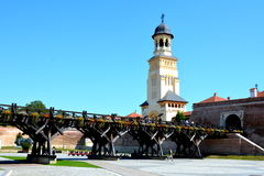 Fortaleza medieval Alba Iulia, a Transilvânia Imagem de Stock