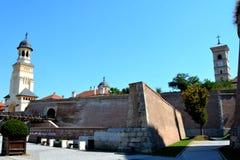 Fortaleza medieval Alba Iulia, a Transilvânia Fotos de Stock Royalty Free