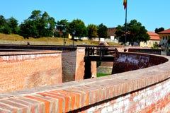 Fortaleza medieval Alba Iulia, a Transilvânia Fotografia de Stock