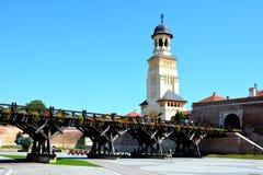 Fortaleza medieval Alba Iulia, Transilvania Imagen de archivo
