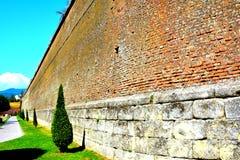 Fortaleza medieval Alba Iulia, Transilvania Foto de archivo