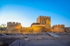 Fortaleza medieval Alcazaba do moorish em Almeria imagem de stock royalty free