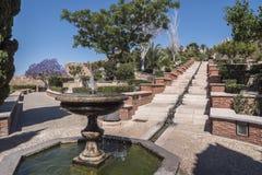 Fortaleza medieval Alcazaba do moorish em Almeria Imagens de Stock