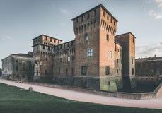 Fortaleza medieval - castillo Mantua Italia de Gonzaga Saint George Imágenes de archivo libres de regalías