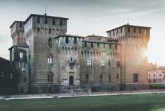Fortaleza medieval - castillo Mantua Italia de Gonzaga Saint George Fotos de archivo libres de regalías