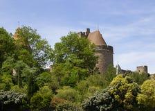 Fortaleza medieval de Carcasona imagen de archivo libre de regalías