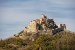 Fortaleza medieval de Rupea en Rumania foto de archivo