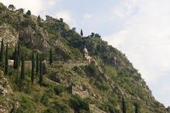 Fortaleza medieval de San Giovanni na montanha Montenegro Imagem de Stock Royalty Free