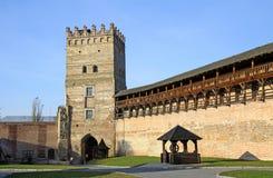 Fortaleza medieval en Lutsk, Ucrania Foto de archivo