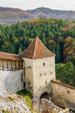 Fortaleza medieval en Rasnov, Transilvania, Brasov, Rumania foto de archivo