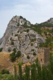 Fortaleza medieval Genoese Imágenes de archivo libres de regalías