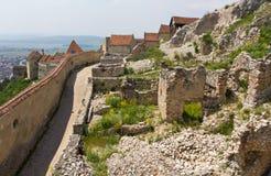 Fortaleza medieval Rasnov foto de stock