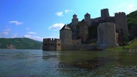 Fortaleza medieval vieja Golubac, Serbia metrajes