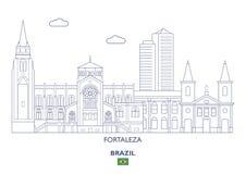 Fortaleza miasta linia horyzontu, Brazylia Obraz Stock