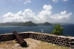 Fortaleza militar en el Caribe Imágenes de archivo libres de regalías