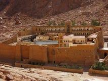 Fortaleza-monasterio ncient del  de Ð Egipto Imagen de archivo