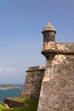 Fortaleza Morro en San Juan viejo, Puerto Rico Fotografía de archivo