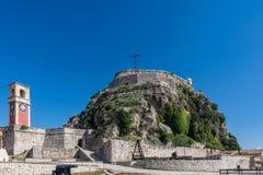 A fortaleza na cidade de Corfu, Grécia Fotos de Stock Royalty Free