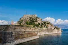 A fortaleza na cidade de Corfu, Grécia Fotos de Stock