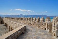 A fortaleza na cidade de Heraklion - Crete imagens de stock