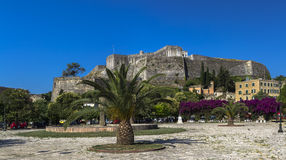 Fortaleza nova, Kerkira, Corfu Imagem de Stock