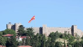 Fortaleza Ohrid Macedonia de Samuil almacen de video